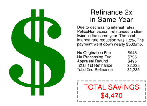 Refinanced twice in one year
