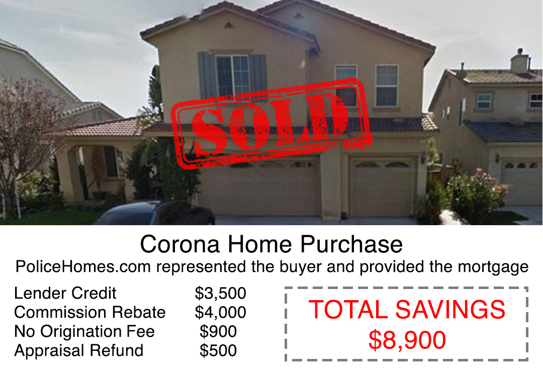 Corona Home Sale