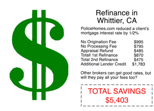 Mortgage Refinance in Whittier